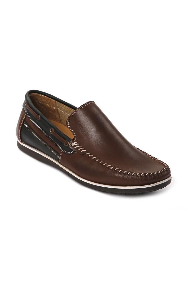 Pandew Kahverengi-Siyah PNDW-03 Hakiki Deri Erkek Ayakkabı