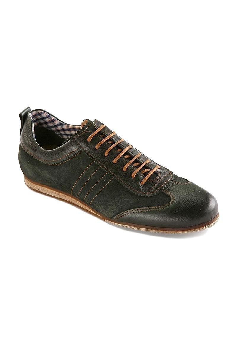 Pandew Yeşil RMR-7080 Hakiki Deri Erkek Ayakkabı