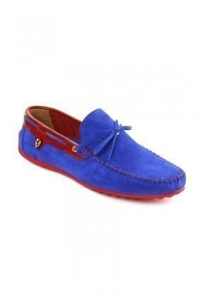 Pandew Mavi-Kırmızı PNDW-FR-SUET-BAG Hakiki Deri Erkek Ayakkabı