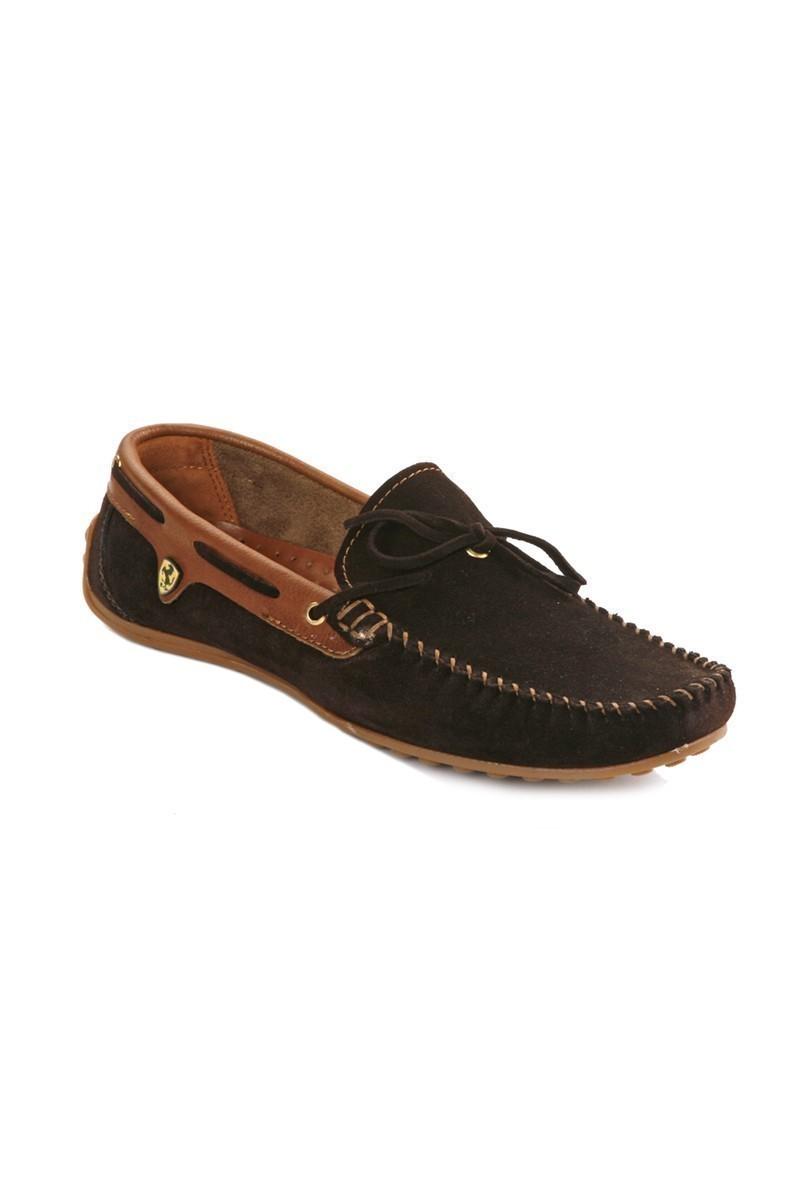 Pandew Koyu Kahve-Taba PNDW-FR-SUET-BAG Hakiki Deri Erkek Ayakkabı