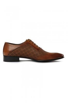 Lotex Taba LTX-5535 Hakiki Deri Erkek Klasik Ayakkabı