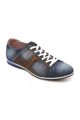 LA POLO Mavi-Taba LPL-1505 Erkek Ayakkabı