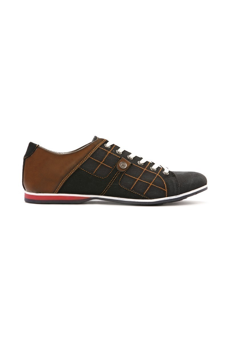 LA POLO Siyah-Taba LPL-1505 Erkek Ayakkabı