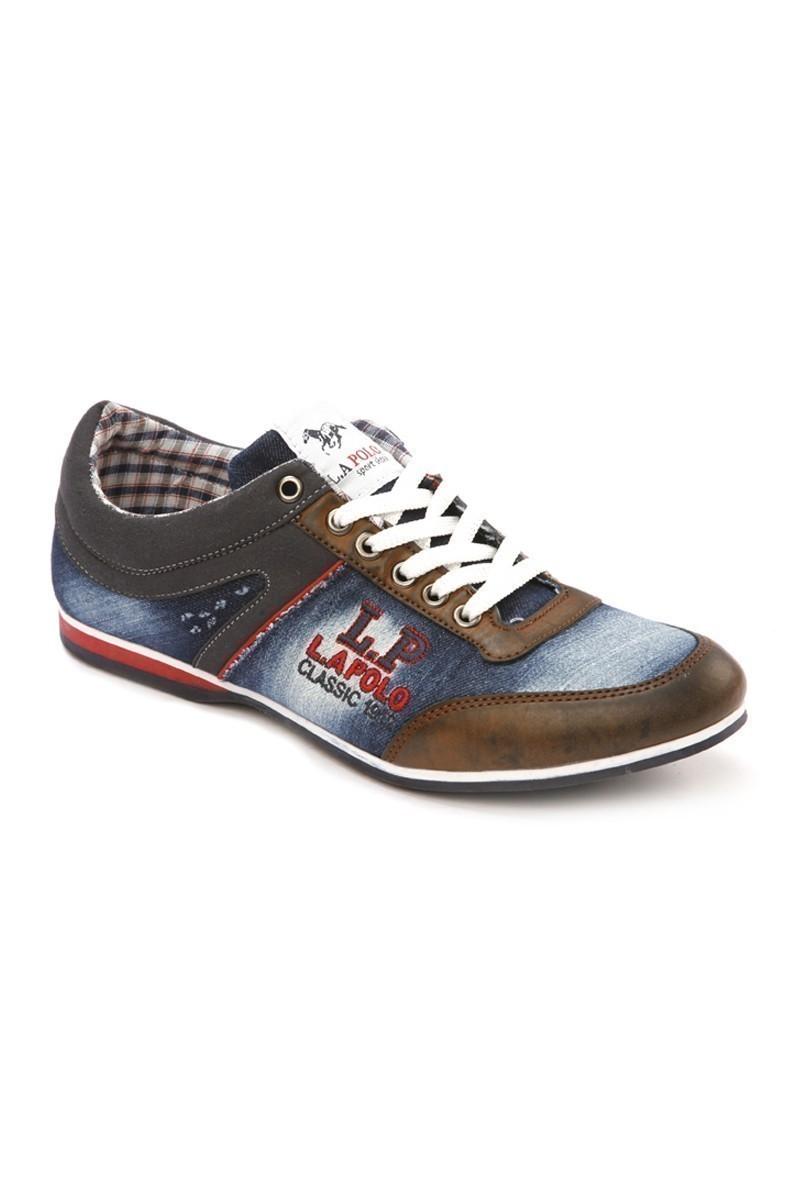 LA POLO Mavi-Taba LPL-1504 Erkek Ayakkabı
