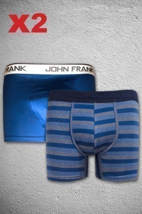 John Frank JF2B7 Erkek Boxer 2li Paket