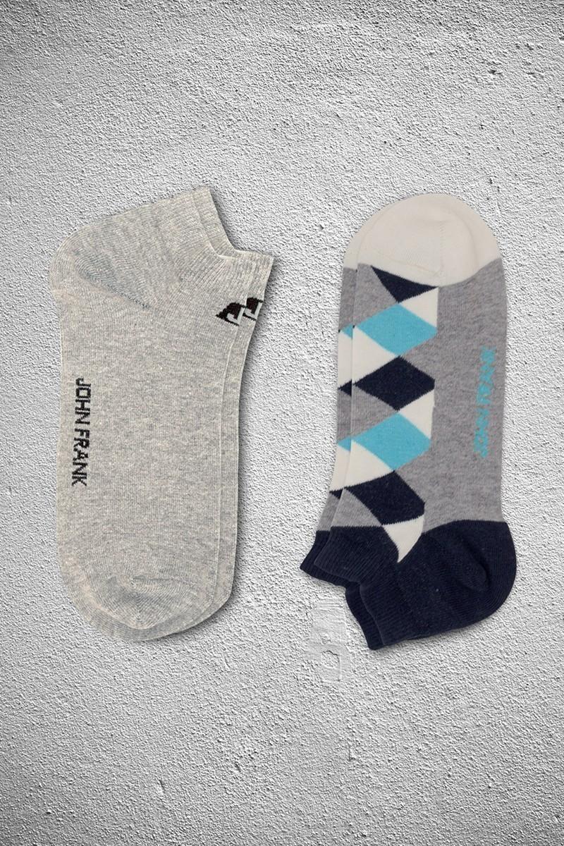 John Frank JF2SK01GRIMELANJ-TURKUAZ Erkek Çorap 2li Paket