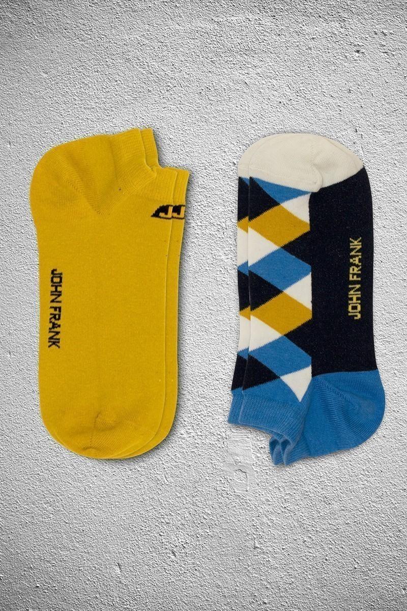 John Frank JF2SK01HARDAL-MAVI Erkek Çorap 2li Paket