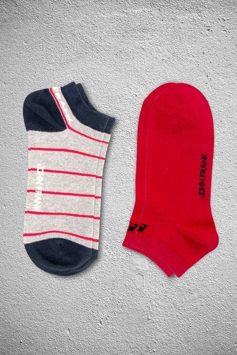 John Frank JF2SK02GRIMELANJ-KIRMIZI Erkek Çorap 2li Paket