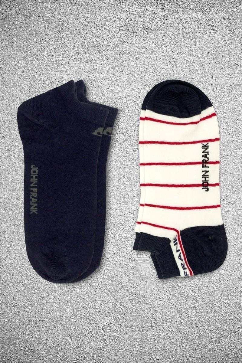 John Frank JF2SK02LACIVERT-BEYAZ Erkek Çorap 2li Paket