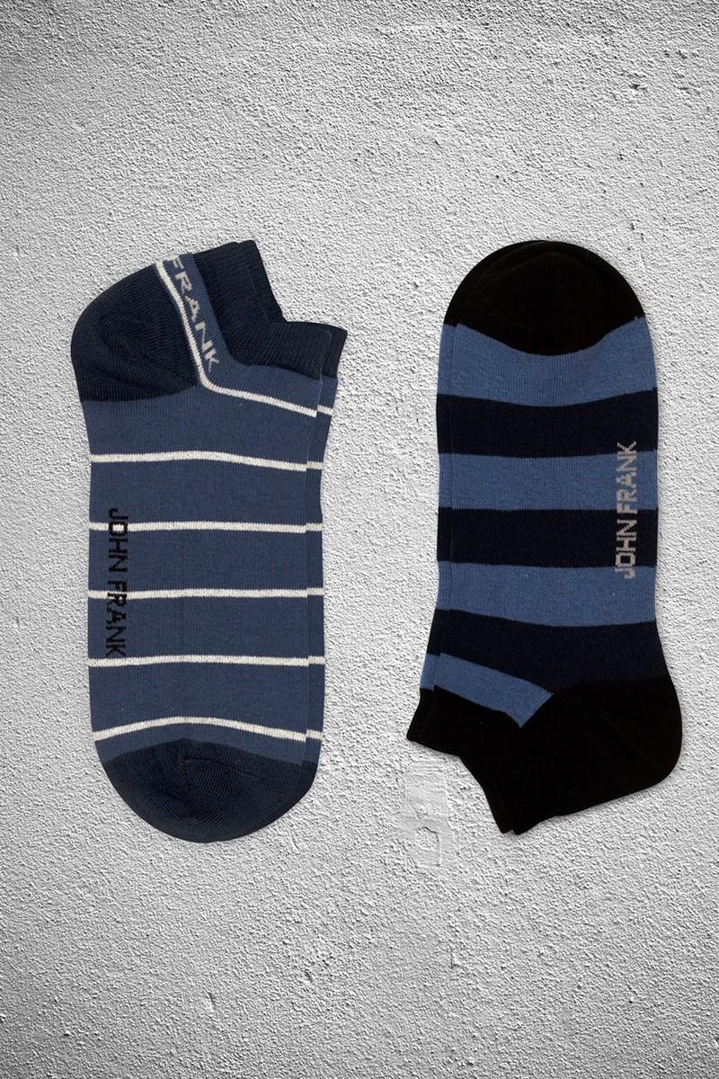 John Frank JF2SK03HAVACIMAVI-LACIVERT Erkek Çorap 2li Paket