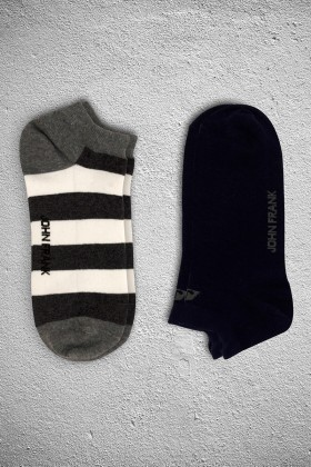 John Frank JF2SK04ANTRASITMELANJ-SIYAH Erkek Çorap 2li Paket