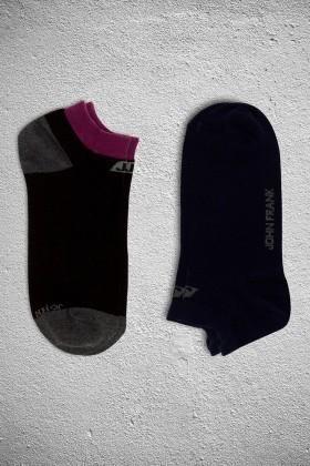 John Frank JF2SK05BORDO-SIYAH Erkek Çorap 2li Paket