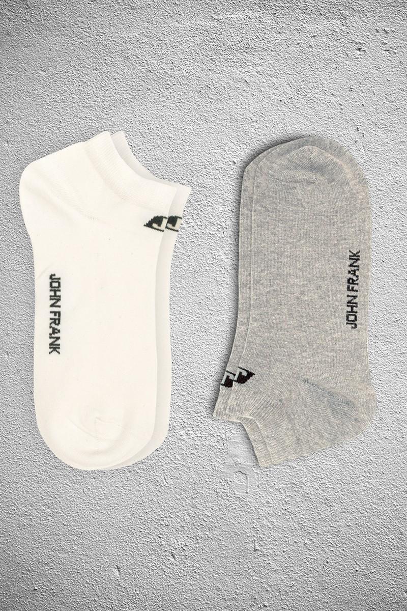 John Frank JF2SK06GRIMELANJ-BEYAZ Erkek Çorap 2li Paket