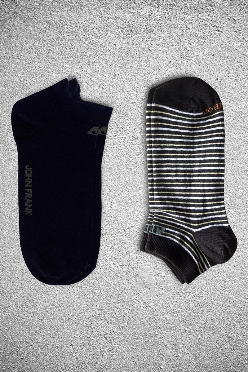 John Frank JF2SK07-SIYAH Erkek Çorap 2li Paket