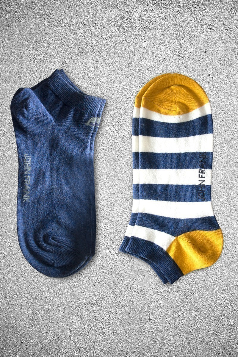 John Frank JF2SK08-HMAVI-HARDAL Erkek Çorap 2li Paket