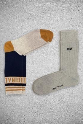 John Frank JF2SU01GRIMELANJ-HARDAL Erkek Çorap 2li Paket