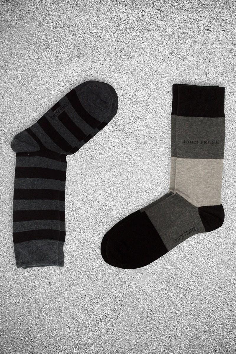 John Frank JF2SU01GRIMELANJ-SIYAH Erkek Çorap 2li Paket