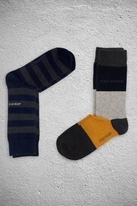John Frank JF2SU02LACIVERT-HARDAL Erkek Çorap 2li Paket