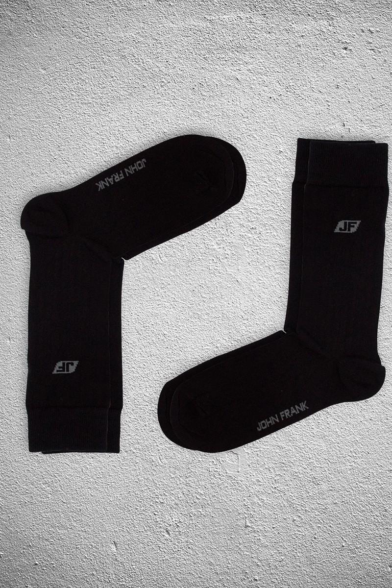 John Frank JF2SU10SIYAH-SIYAH Erkek Çorap 2li Paket