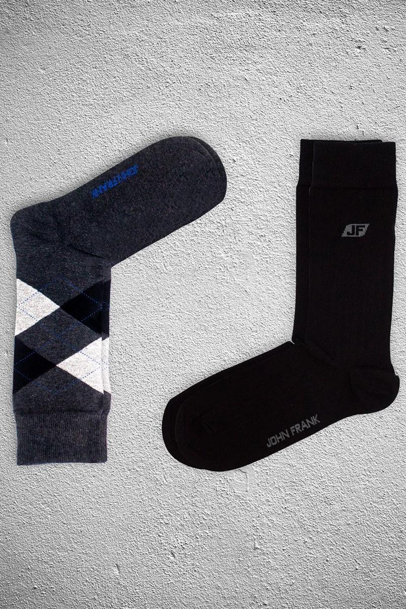 John Frank JF2SU14ANTRASIT-SIYAH Erkek Çorap 2li Paket