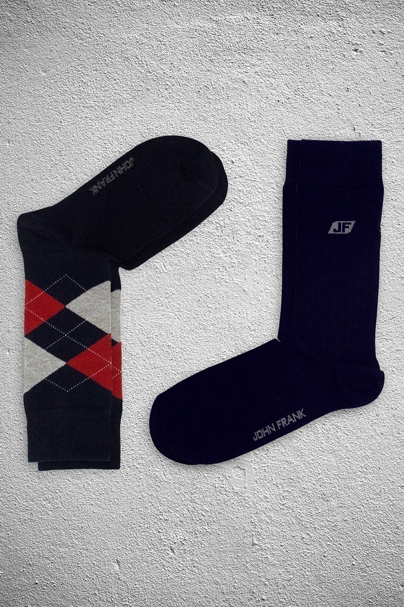John Frank JF2SU14LACIVERT-LACIVERT Erkek Çorap 2li Paket