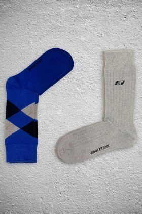 John Frank JF2SU14MAVI-GRIMELANJ Erkek Çorap 2li Paket
