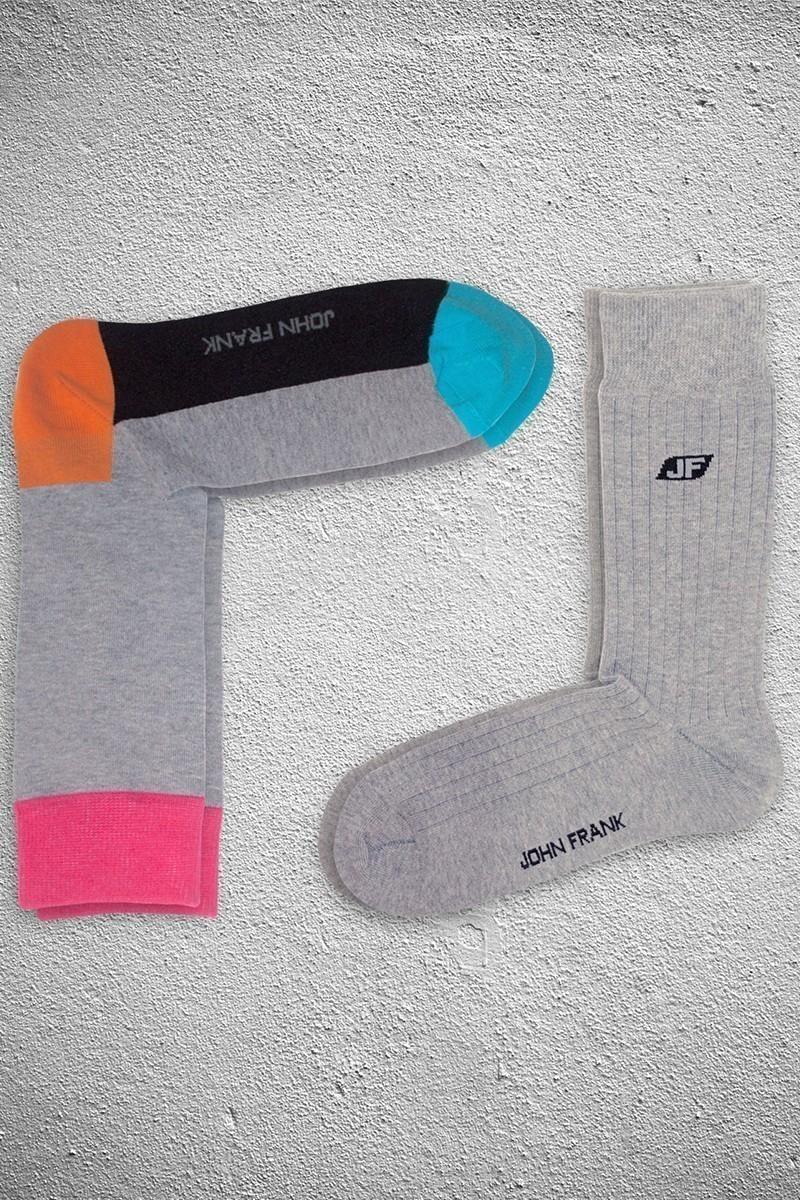 John Frank JF2SU15GRIMELANJ Erkek Çorap 2li Paket