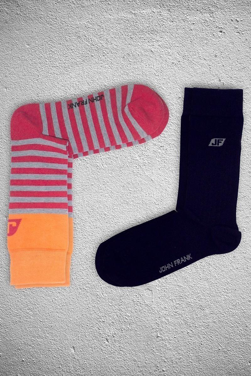 John Frank JF2SU16KIRMIZI Erkek Çorap 2li Paket