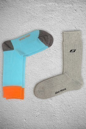 John Frank JF2SU17TURKUVAZ-GRIMELANJ Erkek Çorap 2li Paket