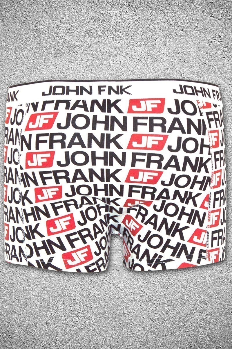 John Frank Beyaz-Siyah JFB11BEYAZ-SIYAH Erkek Boxer