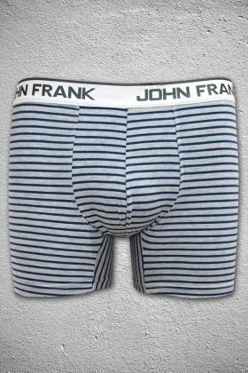 John Frank Gri Melanj-Mavi JFB34GRIMELANJ-MAVI Erkek Boxer