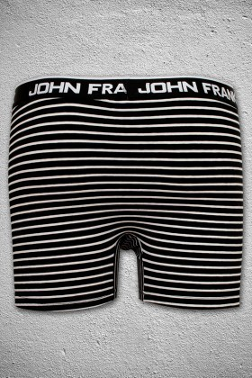 John Frank Siyah-Beyaz JFB34SIYAH-BEYAZ Erkek Boxer