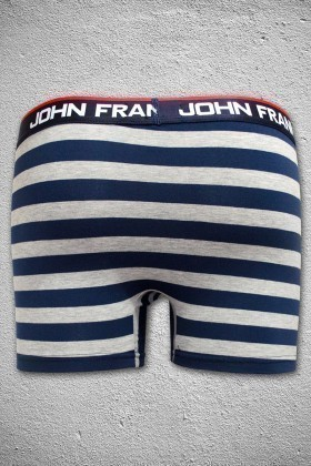 John Frank Gri Melanj-Lacivert JFB35GRIMELANJ-LACIVERT Erkek Boxer