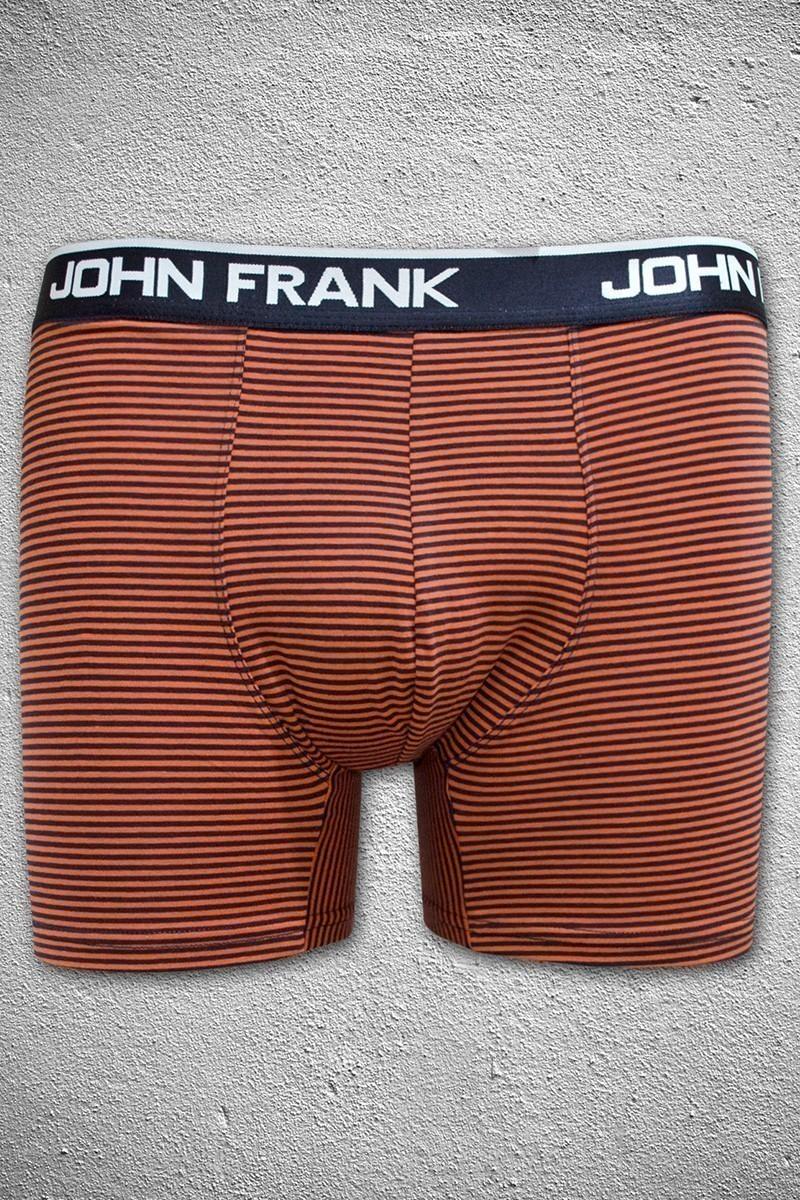 John Frank Lacivert-Turuncu JFB38TURUNCU-LACIVERT Erkek Boxer