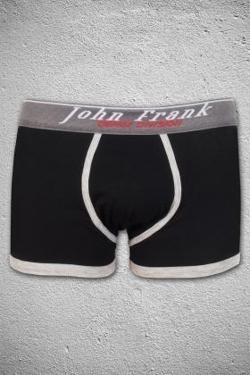 John Frank Siyah-Beyaz JFB53S Erkek Boxer