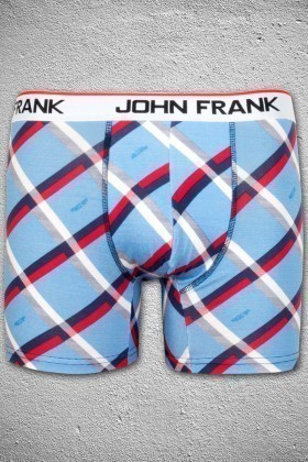 John Frank Mavi-Kırmızı-Beyaz JFB54M Erkek Boxer
