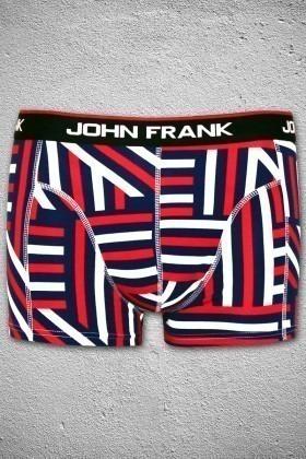 John Frank Lacivert-Beyaz JFBBASLI-3LACIVERT-BEYAZ Erkek Boxer