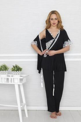 Baha Siyah BH-2312-SIYAH Bayan Pijama Takımı