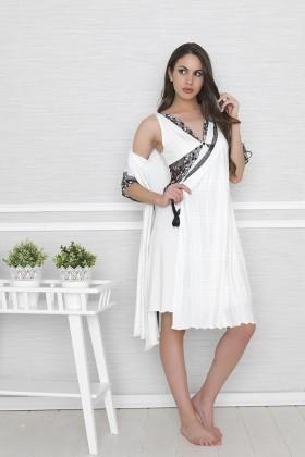 Baha Ekru BH-2313-EKRU Bayan Gecelik Takımı