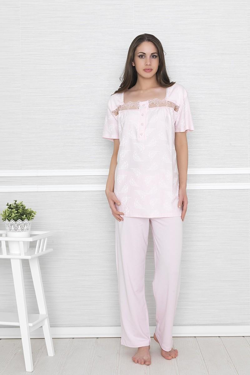 Baha Pembe BH-2317-PEMBE Bayan Pijama Takımı