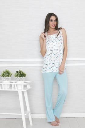Baha Mavi BH-2332-MAVI Bayan Pijama Takımı