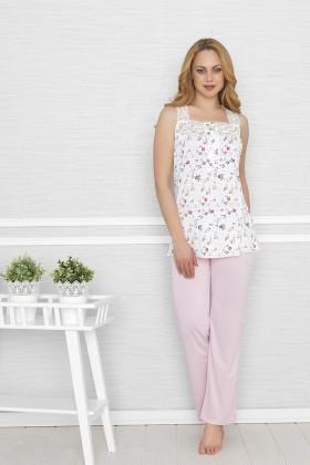 Baha Pembe BH-2332-PEMBE Bayan Pijama Takımı