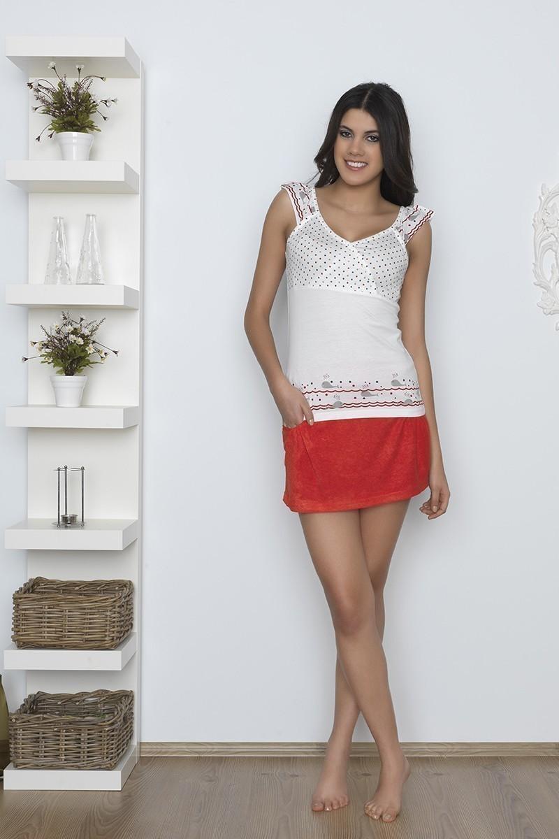 Baha Kırmızı BH-2337-KIRMIZI Bayan Pijama Takımı