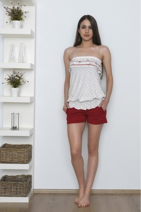 Baha Kırmızı BH-2338-KIRMIZI Bayan Pijama Takımı