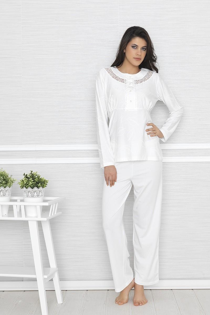 Baha Ekru BH-2414-EKRU Bayan Pijama Takımı