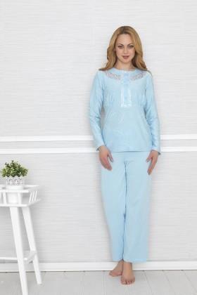 Baha Mavi BH-2414-MAVI Bayan Pijama Takımı