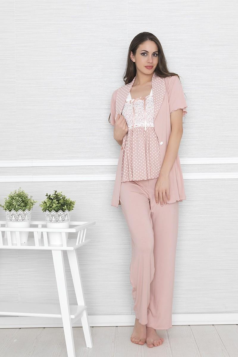 Baha Gül Kurusu BH-2504-G-KURUSU Bayan Pijama Takımı