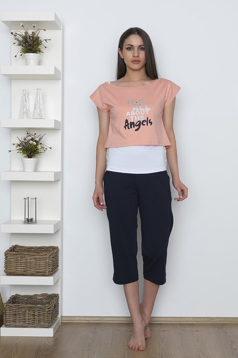 Baha Somon BH-2507-SOMON Bayan Pijama Takımı