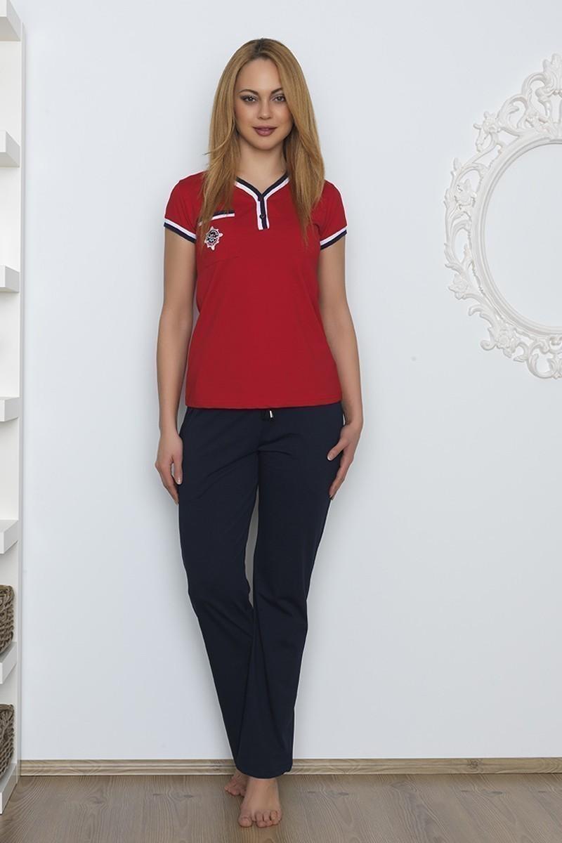 Baha Kırmızı BH-2510-KIRMIZI Bayan Pijama Takımı