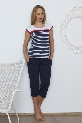 Baha Lacivert BH-2511-LACIVERT Bayan Pijama Takımı